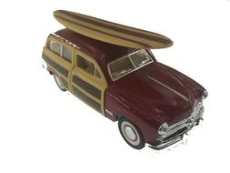 "5"" Kinsmart 1949 Ford Woody Wagon w/ Surfboard Diecast Model"