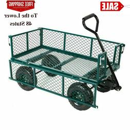 550lbs Garden Cart Heavy Duty Dump Utility Wagon Outdoor Law