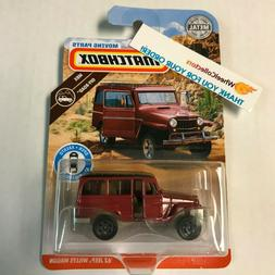 '62 Jeep Willys Wagon * 2019 Matchbox Moving Parts * Case C