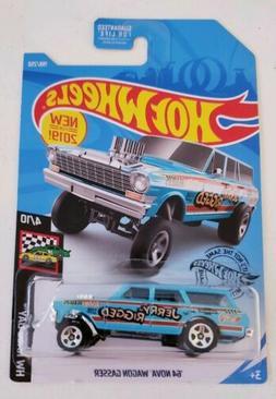 Hot Wheels '64 NOVA WAGON GASSER #198 blue JERRY-RIGGED HW R