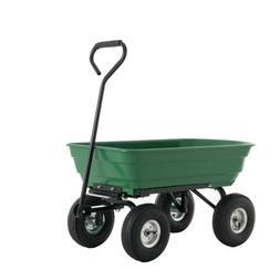 Heavy Duty Garden Dump Cart Dumper Wagon Carrier Utility Whe