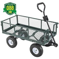 660lbs Heavy Duty Lawn Garden Utility Yard Cart Wagon Wheelb