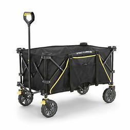 Gorilla Carts 7 Cubic Feet Foldable Utility Beach Wagon w/ O