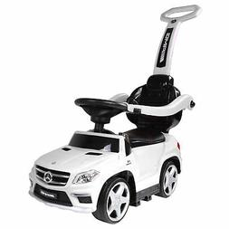 Best Ride On Cars 4-in-1 Mercedes Push Car, White