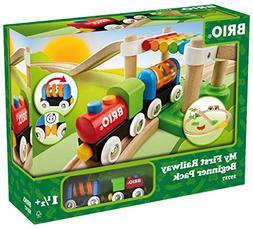 Brio My First Railway Beginner Pack Wooden Toy Train Set - M