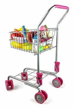 Precious Toys Kids & Toddler Pretend Play Shopping Cart with