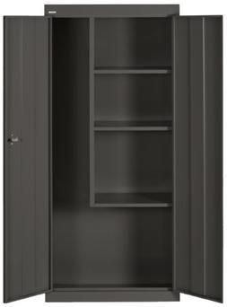 Sandusky Lee VFC1301566-09 Black Steel Janitorial/Supply Cab