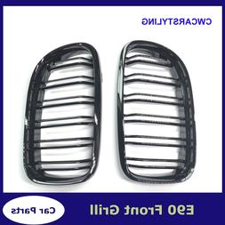 A Pair Gloss black Kidney Grille Grill For BMW 3-<font><b>Se