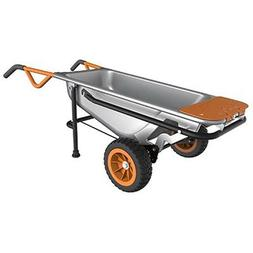 Worx Aerocart Multifunction 2-Wheeled Yard Cart, Dolly, and