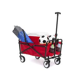 AllTerrain Beach Wagon Cart Fold Garden Shopping Grocery Uti