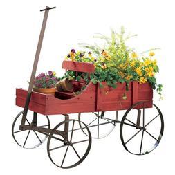Amish Wagon Decorative IndoorOutdoor Garden Backyard Planter