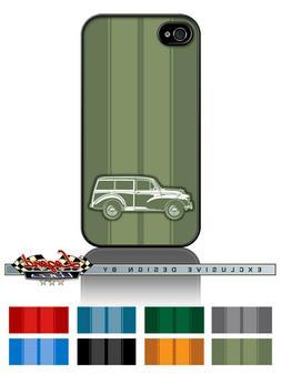 "Austin Morris Minor Traveller Woody Wagon ""Stripes"" Phone Ca"
