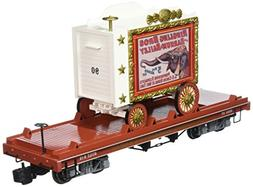 Bachmann Flat Car with Tableau Wagon - Performing Elephants