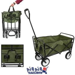Beach Wagon Cart Kid Folding Collapsible Camping Trolley Gar