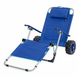 Beach Wagon Lounge Chair All Terrain Cart Folding Utility Wh