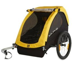 Burley Bee Compact Fold Bike Bicycle Trailer Wagon Yellow NE