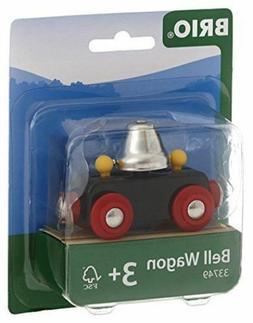 Brio Bell Wagon Train Car Wooden Railway Bell Rings as it Ro