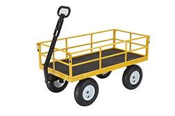 Best Carts Heavy-Duty Steel Utility Cart With Removable Side