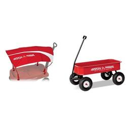 Radio Flyer Big Red Classic ATW with Wagon Canopy Bundle