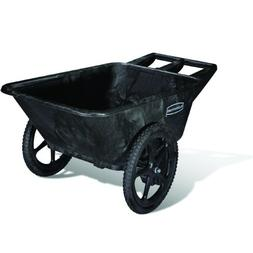 Rubbermaid Commercial Big Wheel Cart, 3.2 Cu. Ft., Black
