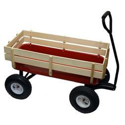 Bit Foot All Terrain Wagon w/ Wood Railing Red Off Road Chil