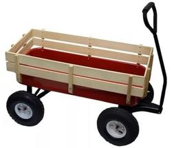Bit Foot All Terrain Wagon w/ Wood Railing Red Off Road Chil
