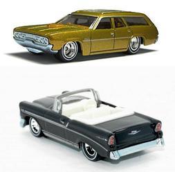 Brady Bunch 2 Car Set Fun Family Station Wagon - Hot Wheels