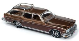 Auto World Buick Estate Wagon 1976 Musket Brown Poly with Wo