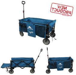 Camping Wagon Cart W/ Tailgate Quad Folding Big Wheels Beach