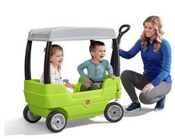Step2 Canopy Wagon | Kids Wagon with 2 Seats and Storage | G