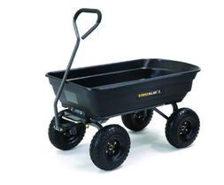 Cart Garden Wagon Dump Yard Lawn Utility Heavy Duty Steel Po
