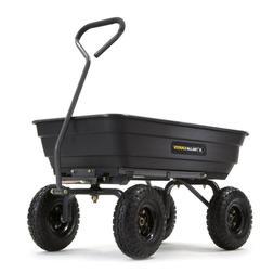 Gorilla Carts 4-cu ft 600lb Capacity Poly Yard Dump Utility