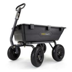 Gorilla Carts 6-cu ft 1200lb Capacity Poly Yard Dump Utility