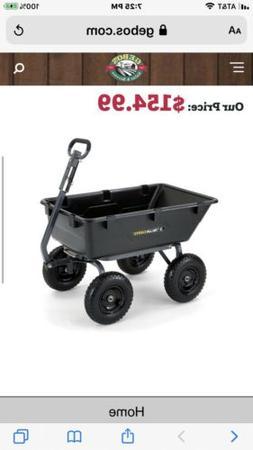 Gorilla Carts Poly Garden Dump Wheel Steel Frame Hauling Wag