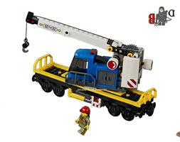 LEGO City Cargo train 60198 Crane wagon/carriage only - No P