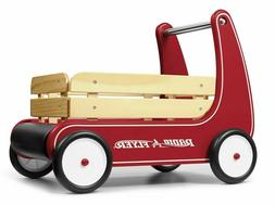 Classic Walker Wagon Red Radio Flyer Push Toddler Wooden Toy