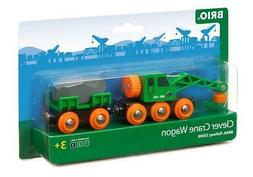 Clever Crane Wagon, 4 Pieces - BRIO Free Shipping!