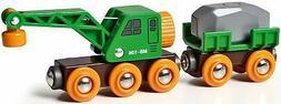 Brio Clever Crane Wagon Child Toddler Nursery Toy Railway Tr