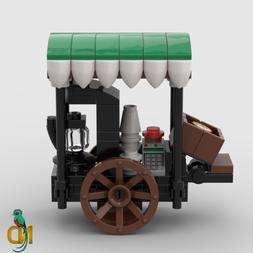 Lego Coffee Cart Street Stall Food & Beverage Wagon Minifigu