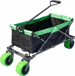 Collapsible Beach Cart Folding Wagon Utility Shopping Cart O