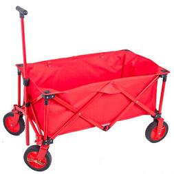Collapsible Folding Outdoor Utility Wagon Camping Grocery Tr