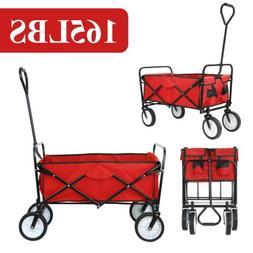 Collapsible Folding Wagon Cart Beach Camp Trolley Garden Uti