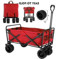 Collapsible Folding Wagon Cart Garden Beach Sport Trolley Bu