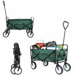 Collapsible Folding Wagon Cart Outdoor Utility Garden Shoppi
