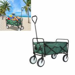 Collapsible Folding Wagon Cart Outdoor Utility Garden Trolle