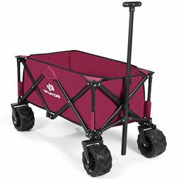 Collapsible Folding Wagon Cart Outdoor Utility Garden Trolle