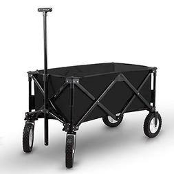 Bellahome Collapsible Folding Wagon Cart Utility Garden Beac