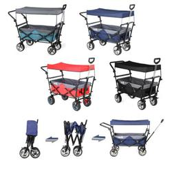 Collapsible Folding Wagon Garden Beach Utility Cart Toy Spor