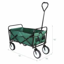 Collapsible Folding Wagon Garden Beach Utility Cart Toy Spor