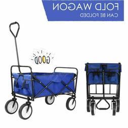 Collapsible Folding Wagon Shopping Cart Utility Garden Buggy
